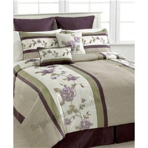 rosemont 8 pc queen comforter set sage green purple