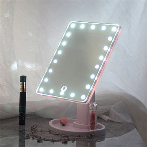 light up mirror with 22 led touch screen makeup mirror tabletop cosmetic vanity