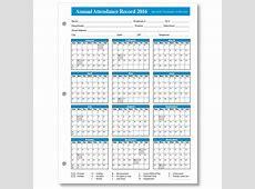 Free Printable Vacation Tracking Calendar 2016 Calendar