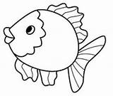 Fish Coloring Pages Preschool Kindergarten Drawing Printable Cartoon Aquarium Drawings Preschoolcrafts sketch template
