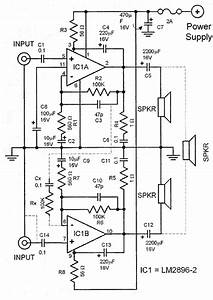 Lm2896 Car Audio Amplifier Circuit  With Images