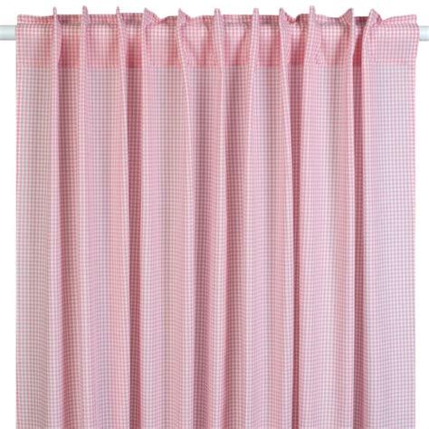 vorhang rosa kinderzimmer gardine vorhang vichykaro rosa