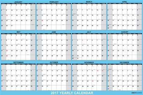 vinyl calendar template yearly calendar 2017 calendar template excel