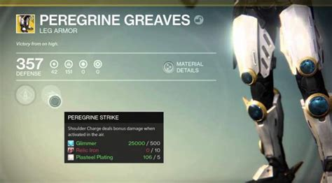 destiny peregrine greaves review  players  op