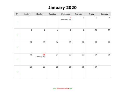 blank monthly holidays calendar  landscape