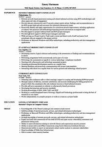 cybersecurity consultant resume samples velvet jobs With cyber security resume sample