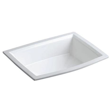 kohler undermount sinks kitchen kohler archer mounted bathroom sink in white k r2355 6706