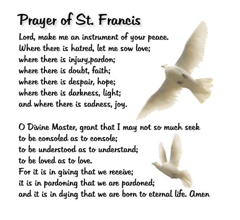prayer of st francis of assisi prayer of st francis catholics