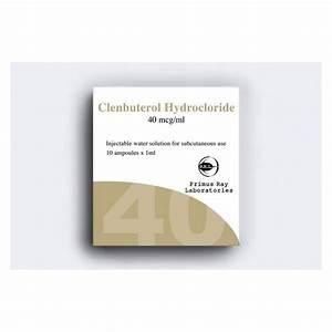 Clenbuterol Hydrochloride Injection Primus Ray 10x1ml  40mcg  Ml