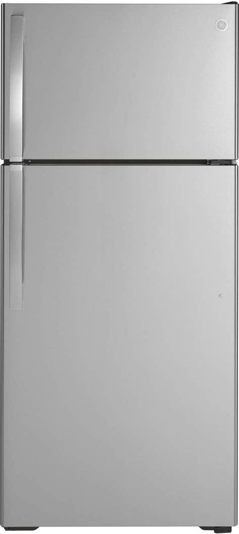 ge  cu ft stainless steel top freezer refrigerator giegsnrss friedmans appliance