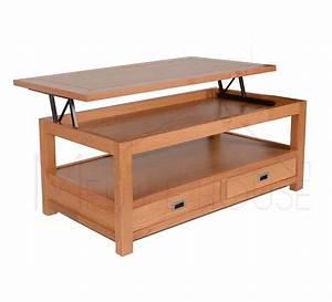 Table Basse Chene Clair : table basse snack ch ne clair massif virginia 5687 ~ Teatrodelosmanantiales.com Idées de Décoration