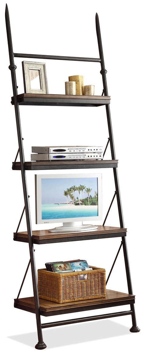 Leaning Bookcase With Drawers by Open Leaning Bookcase With 4 Shelves By Riverside