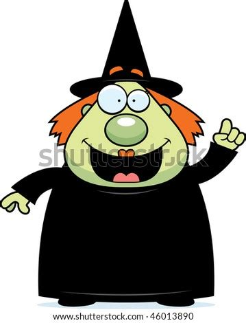 vector cartoon graphic depicting witchs face stock vector
