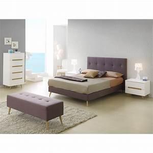 Tete De Lit Marron : t te de lit pour lit 180 cm en tissu marron maunake ~ Melissatoandfro.com Idées de Décoration