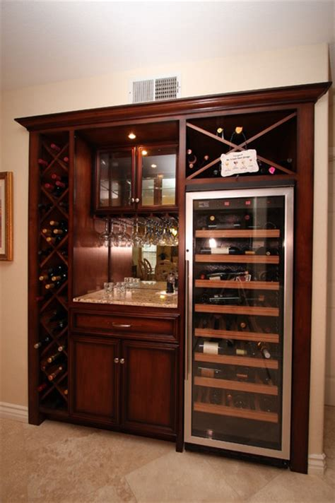 built in wine cabinet entertainment centers built in niches traditional