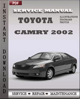 online service manuals 2002 toyota camry user handbook toyota camry 2002 service manual download repair service manual pdf