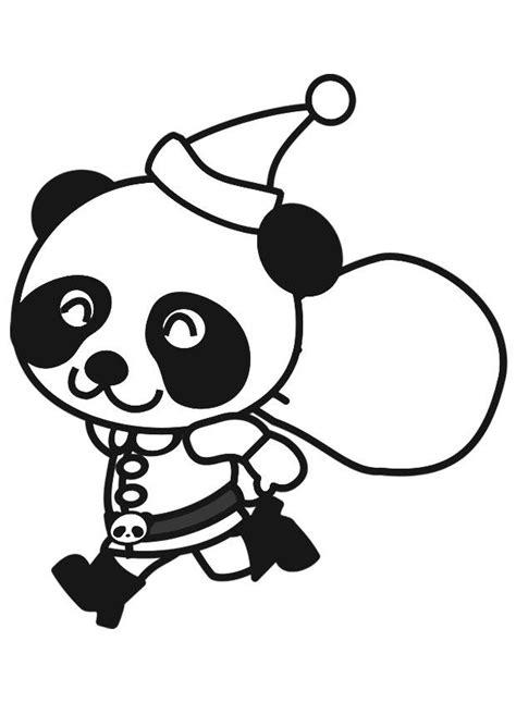 Dierenmasker Kleurplaat Panda by Kleurplaat Panda In Kerstpak Afb 20560 Images