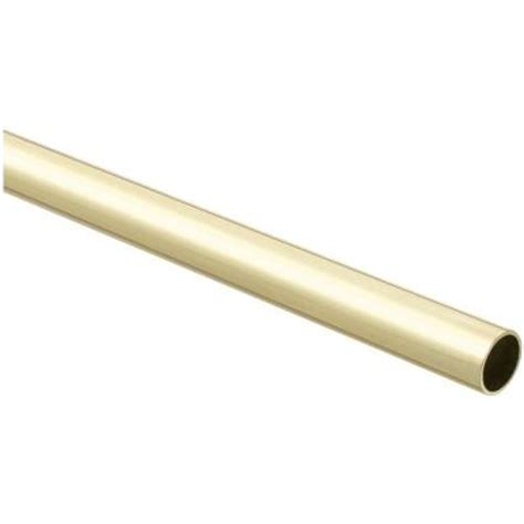 brass closet rod stanley national hardware 8 ft closet rod in polished