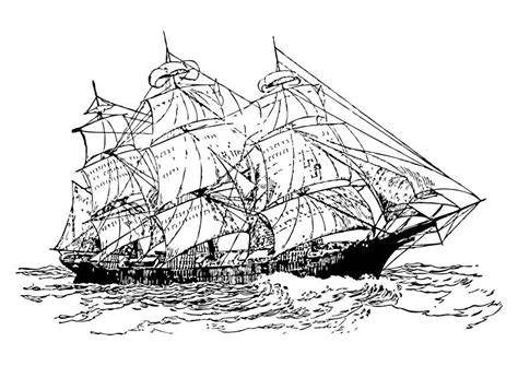 Dessin Bateau Laser by Coloring Page Three Mast Ship Img 10506