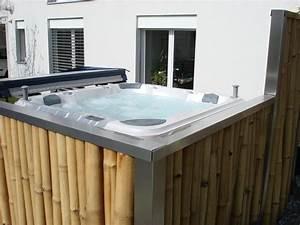 kleiner whirlpool kleiner whirlpool auf balkon beige With whirlpool garten mit kleiner wintergarten balkon