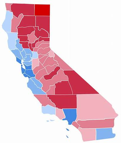 Election California Presidential 2000 Results County Svg
