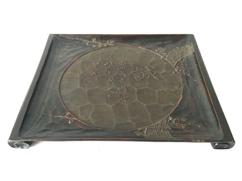 antique wood tray antique japanese carved wood tray chairish 1302