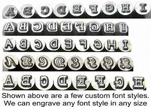 custom font alphabet number hand stamp sets With custom metal letter stamps