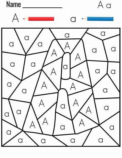 Letter Coloring Preschool Pages Letters Alphabet Worksheets