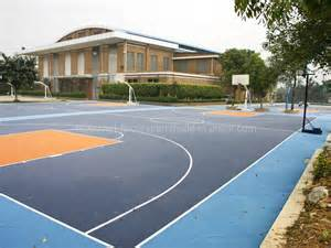 Outdoor Basketball Court Floor