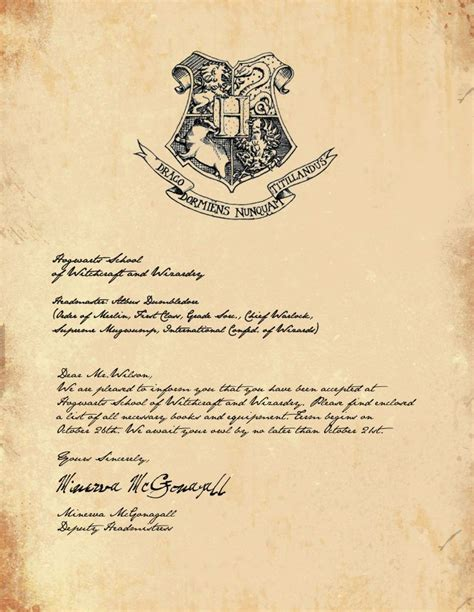 hogwarts letter template ideas  pinterest