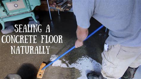 tung oil  seal  concrete floor youtube