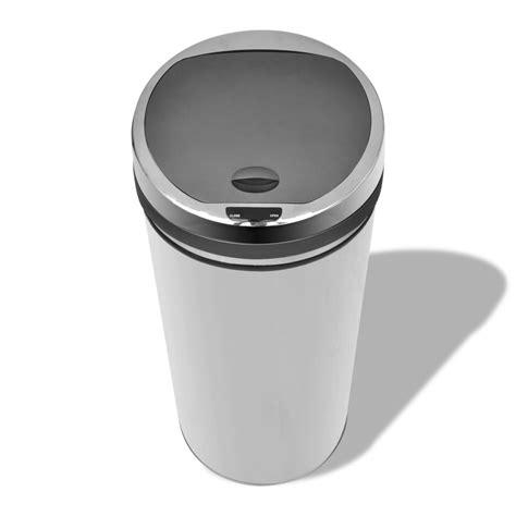 acheter poubelle automatique de cuisine 50l panier acier