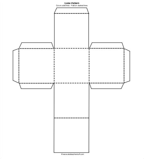 Paper Cube Template Printables
