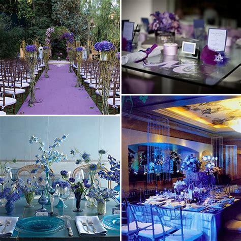 blue and purple weddings