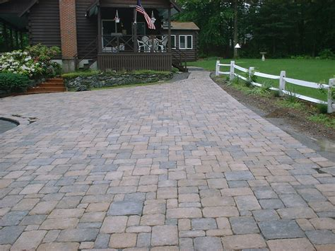 brick driveway brick driveway and walkway hstead nh labrie property maintenance and landscaping