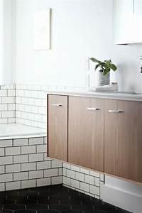 salle de bain deco scandinave en blanc et bois With meuble de salle de bain scandinave