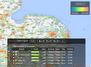 map reveals mobile coverage across the uk and which
