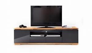 Meuble Bois Et Noir : meuble tv noir et bois design pour salon ~ Melissatoandfro.com Idées de Décoration