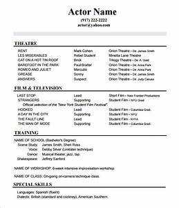 10 acting resume templates free samples examples for Free resume templates no download