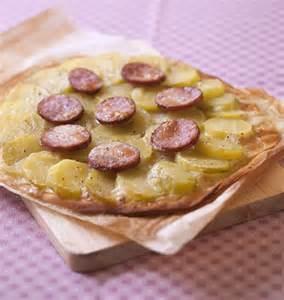 pizza saucisse de morteau cancoillotte et pommes de terre