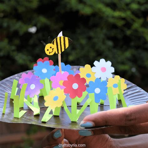 craft for paper plate garden and bee crafts by ria