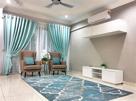ruang tamu tema biru desainrumahidcom