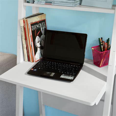 sobuy table bureau bibliothèque étagère style échelle de