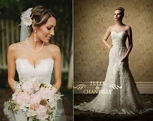 wedding jewelry tulle chantilly wedding blog With pearl necklace with wedding dress