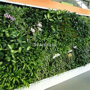 Artificial Green Plants Wall with Foliage Fern Plastic