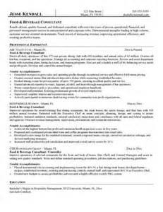 food and beverage director resume food and beverage manager resume source