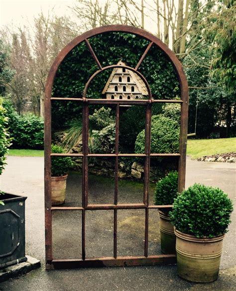 large arch garden mirrors garden mirror rustic targ