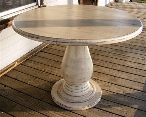 pedestal table huge solid wood