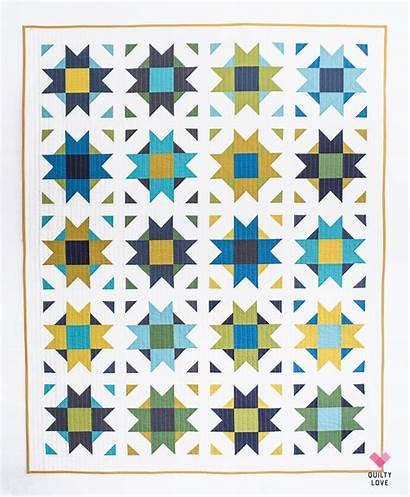 Star Compass Quilt Pattern Modern Copy Quilty