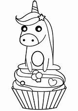 Unicorn Cupcake Coloring Pages Printable Version Categories sketch template